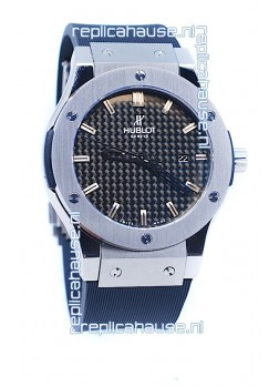 Hublot Classic Fusion Silver Watch in Stamped Dial