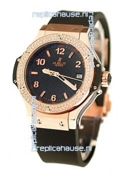 Hublot Big Bang Cappucino Carbon Face Swiss Replica Watch