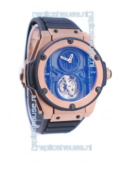Hublot King Power Vendome Manufacture Tourbillon Swiss Rose Gold Watch