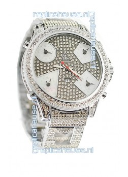 Jacob & Co Diamond Japanese Replica Watch in Grey Diamond Dial