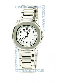 Patek Philippe Aquanaut Ladies Steel Watch in Green Markers