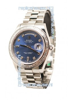 Rolex Day Date Silver Japanese Replica Watch