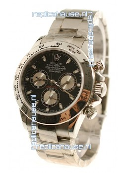 Rolex Replica Daytona Cosmograph Swiss Watch in Black Dial - 2011 Edition