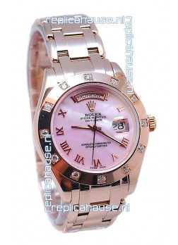 Rolex Day Date Pink Mother of Pearl Japanese Replica Watch