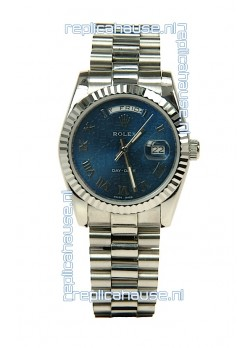 Rolex Day Date-Silver Swiss Replica Watch