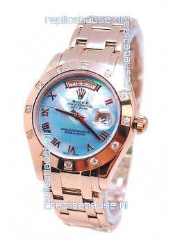 Rolex Day Date Blue Mother of Pearl Swiss Replica Watch