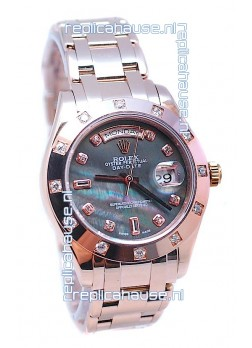 Rolex Day Date Black Mother of Pearl Swiss Replica Watch