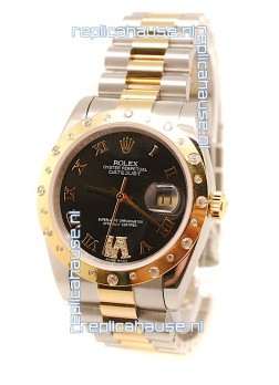 Rolex DateJust Mid-Sized Swiss Replica Gold Watch