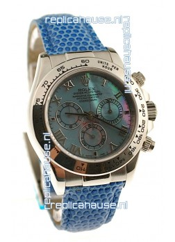 Rolex Daytona Cosmograph Swiss Replica Watch in Blue Pearl Dial