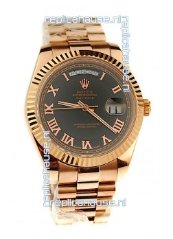 Rolex Day Date Pink Gold Swiss Replica Watch