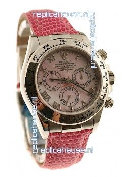 Rolex Daytona Cosmograph Swiss Replica Watch in Light Pink Pearl Dial