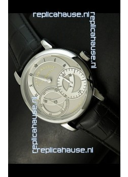 Alange Sohne Dual Sub Dials Japanese Watch Black Strap
