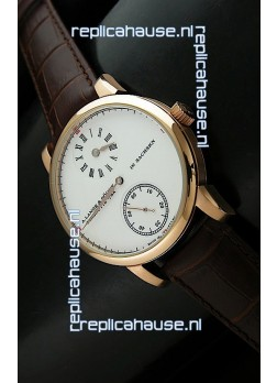 A. Lange & Sohne Cortes de Geneve Decorative Bridges Classic Replica Rose Gold Watch