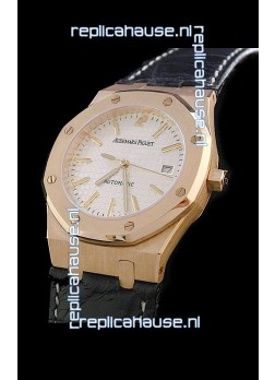 Audemars Piguet Royal Oak Watch in White Dial