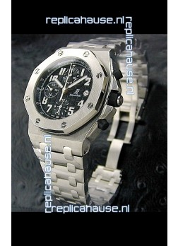 Audemars Piguet Royal Oak Watch in Black Safari Dial - Secs hand 9 O Clock
