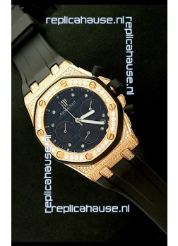 Audemars Piguet Royal Oak Ladies Alinghi Limited Edition Japanese Watch in Yellow Gold