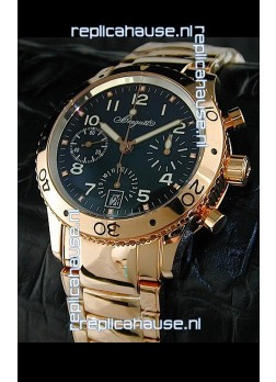 Breguet Aeronavale Swiss Replica Watch in Pink Gold