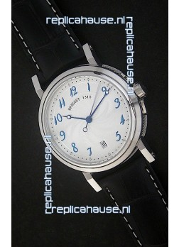 Breguet De La Marine Swiss Replica Steel Watch in White Dial