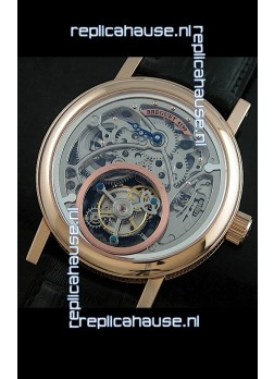 Breguet 4199 Swiss Watch in Grey Skeleton Tourbillon Watch
