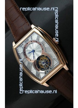 Breguet 986 AI Swiss Watch in Silver & Golden Dial