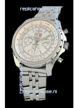 Breitling Bentley 6.75 in Swiss Replica Watch in Off White Dial