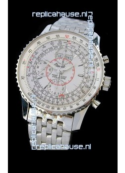Breitling Navitimer World Swiss Replica Watch in White Dial