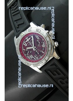 Breitling Chronomat Swiss Replica Watch in Rubber Strap