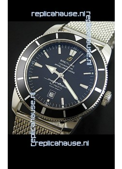Breitling SuperOcean Swiss Replica Watch with Mesh Steel Strap - Ultimate Mirror Replica