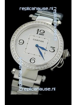 Cartier Pasha de Swiss Replica Automatic Watch in White Dial