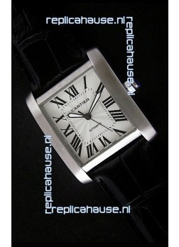 Cartier Tank 100 Japanese Replica Watch in White Dial