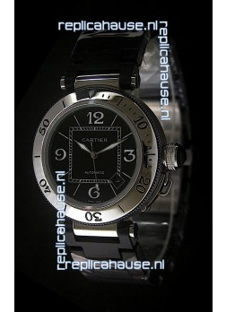 Cartier Pasha de Swiss Replica Watch in Black Dial