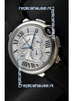 Cartier Ballon de Japanese Replica Watch in Silver White Dial