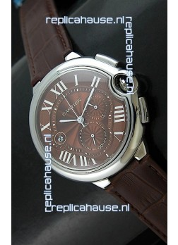 Cartier Ballon de Japanese Replica Watch in Brown Dial