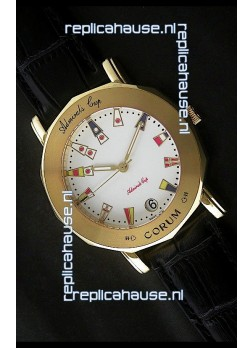 Corum Admiral's Cup Japanese Replica Watch in White Dial
