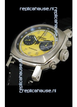 Ferrari Granturismo Swiss Replica Watch in Yellow Dial