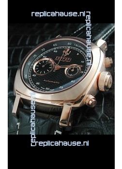 Ferrari Granturismo Swiss Replica Watch in Pink Gold Case