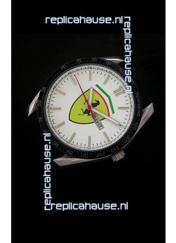 Ferrari Scuderia Watch in White Dial
