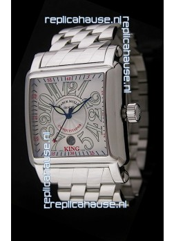 Franck Muller Consquistador Swiss Replica Watch in Silver White Dial