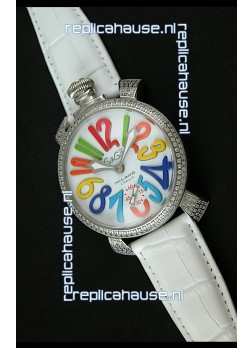 Gaga Milano Italy Manuale Replica Japanese Watch in White Strap