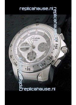 Glashuette Sport Evolution Swiss Chrono Watch in White Dial