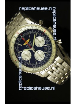 Breitling Navitimer 01 Swiss 1:1 Mirror Updated 2017 Replica Watch in Blue Dial