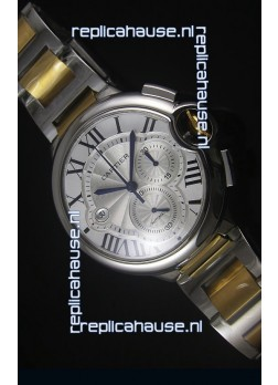 Ballon De Cartier Chronograph in Yellow Gold Two Tone Case - 1:1 Mirror Replica
