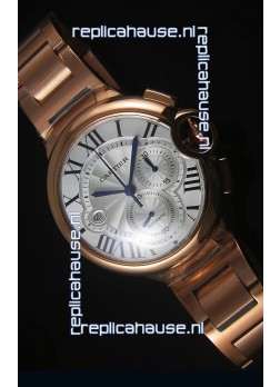 Ballon De Cartier Chronograph in Rose Gold Case - 1:1 Mirror Replica