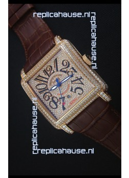 Franck Muller Conquistador King Automatic Swiss Replica Watch in Rose Gold