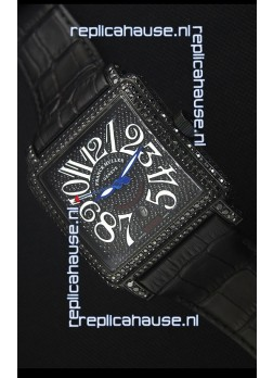Franck Muller Conquistador King Automatic Swiss Replica Watch in Black PVD Case