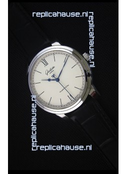 Glashuette Senator Excellence Cream Dial Steel Case Swiss Replica Watch