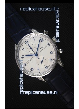 IWC Portuguese Chronograph White Dial with Diamonds 1:1 Mirror Replica Watch