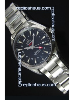 Omega Seamaster COAX GMT Stainless Steel Swiss Watch in Black Dial