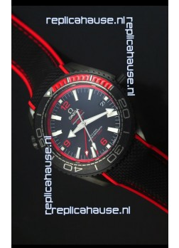 Omega Seamaster Planet Ocean Deep Black Red GMT 1:1 Edition Swiss Replica Watch