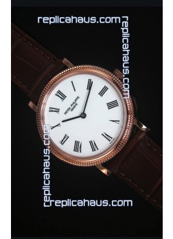 Patek Philippe 5120J Calatrava Mens Rose Gold Watch 1:1 Mirror Replica